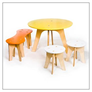 Offi table and chairs