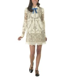 Anna Sui Table Cloth Dress in Bread Dough