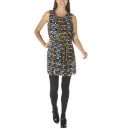 Anna Sui Metallic Jacquard Dress