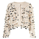 Topshop Knitted Loopy Sequin Cardi