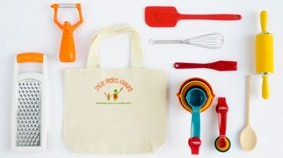 Sticky Fingers Kids Cooking Set - LIttle Sous Chef Kit