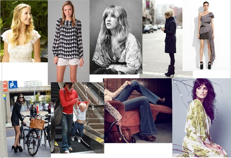 Boho/'70s-inspired + a sporty + a French sophisticate. How does that translate into personal style? We're turning 1 inspiration board into everyday outfits.