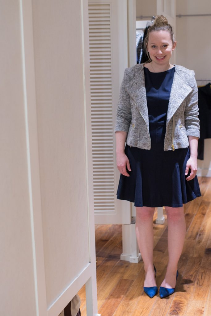 post-partum-work-wardrobe-ann-taylor-dress-soft-moto-jacket-2