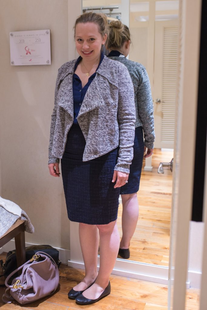 post-partum-work-wardrobe-anntaylor-pencil-skirt-soft-tweed-moto-jacket