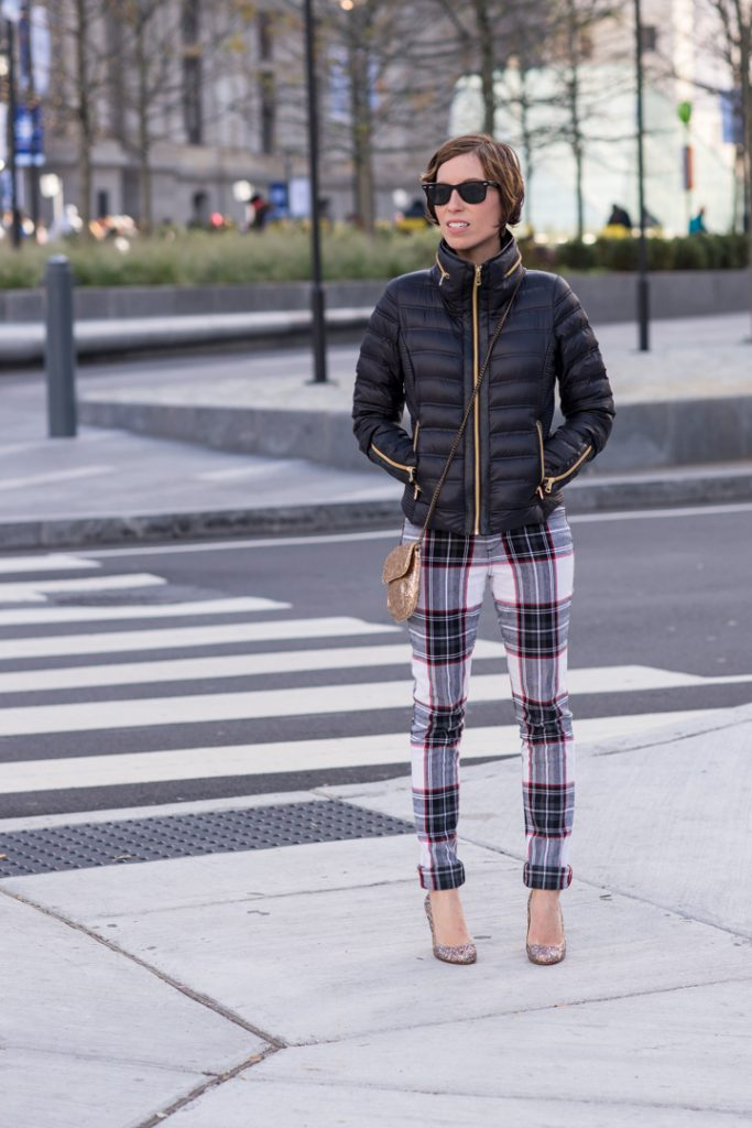 joes-plaid-jeans-french-connection-jacket-ray-bans