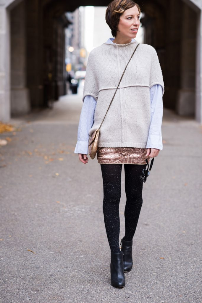 sequin-skirt-black-ankle-boots-cozy-sweater-2