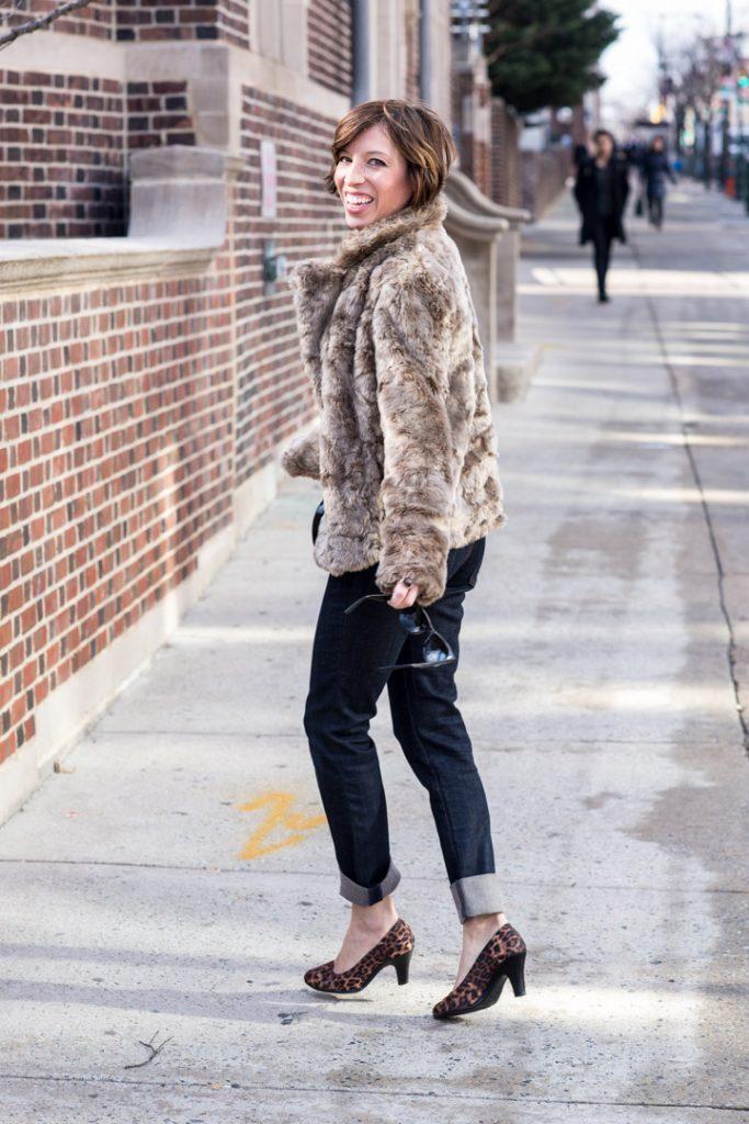 boyfriend-jeans-anthropologie-jcrew-cardigan-leopard-heels-faux-fur-coat-forever21
