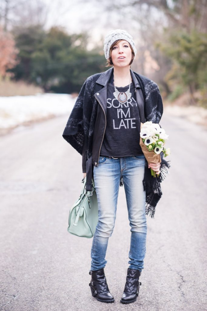 anthropologie-plaid-cape-iro-leather-jacket-ragandbone-skinnies-marcjacobs-booties-kate-spade-pastel-bag-11