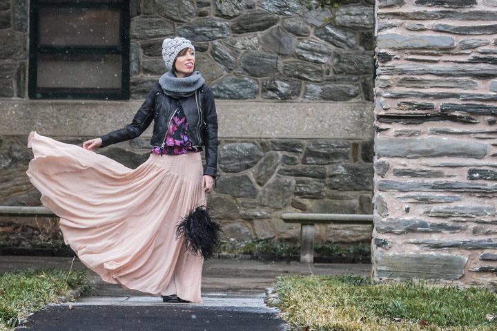 chiffon-maxi-skirt-winter-floral-tank-leather-jacket-sole-society-winter-beanie