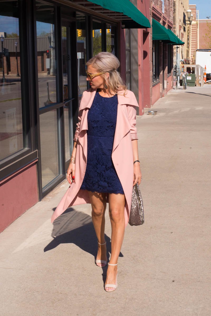 Lace-dress-and-trench-coat