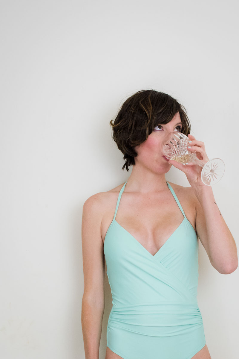 ca4bc62a42db4 J.Crew's Halter Wrap Swimsuit. But first, liquid courage. mint-green- swimsuit