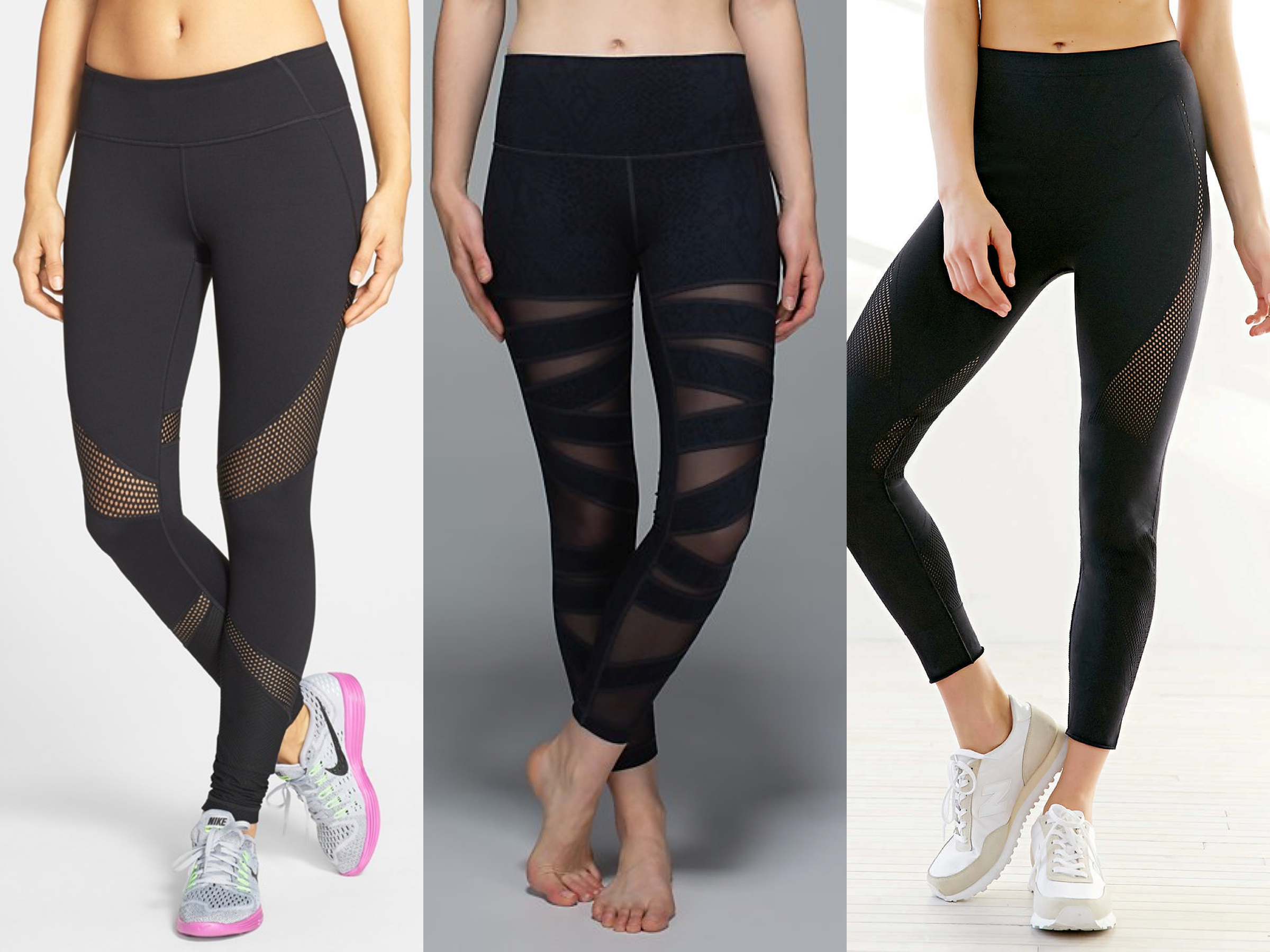 Workout Style  The Best Mesh Panel Workout Leggings 3238054d0