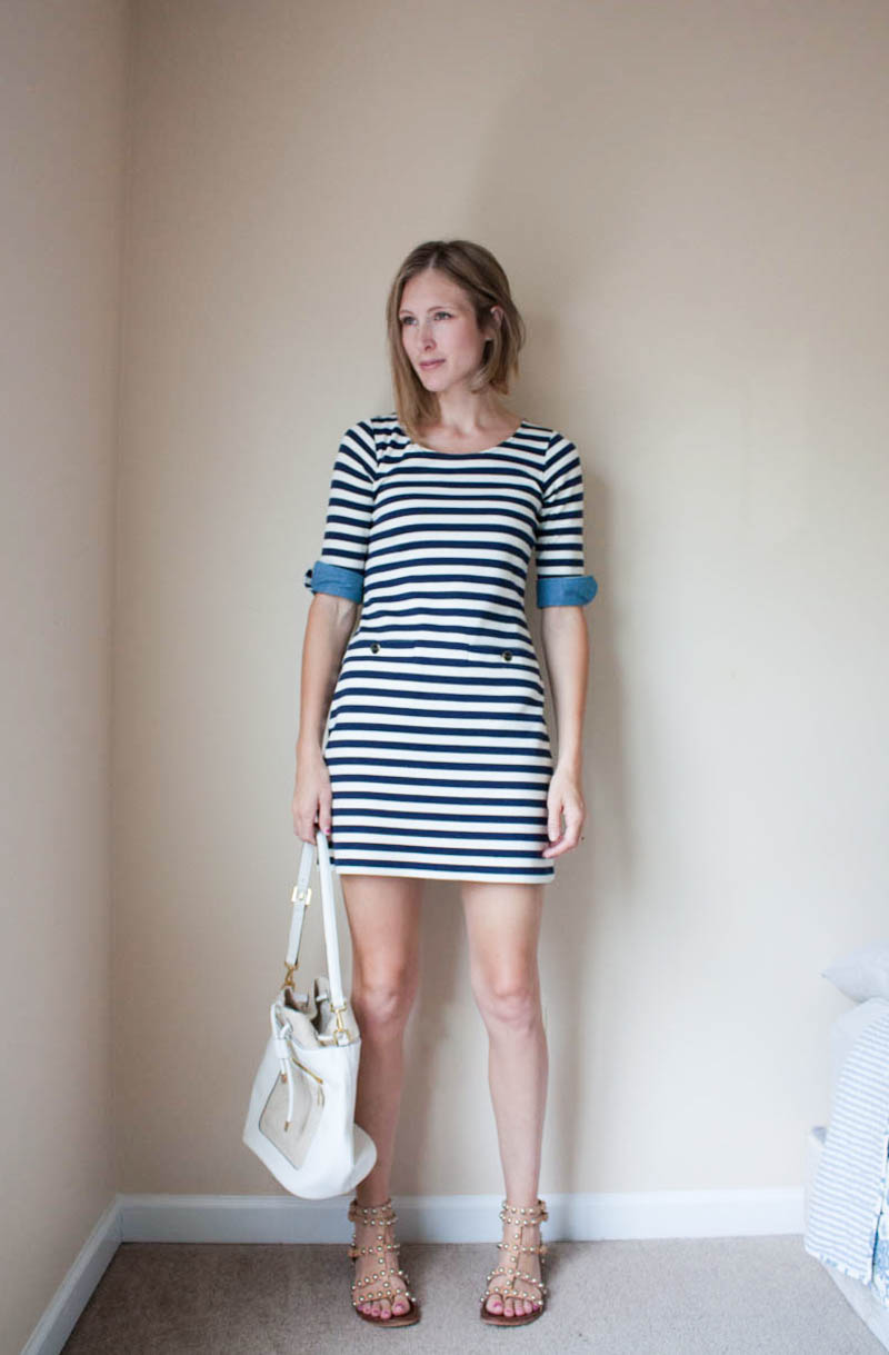 striped-dress-with-sandals