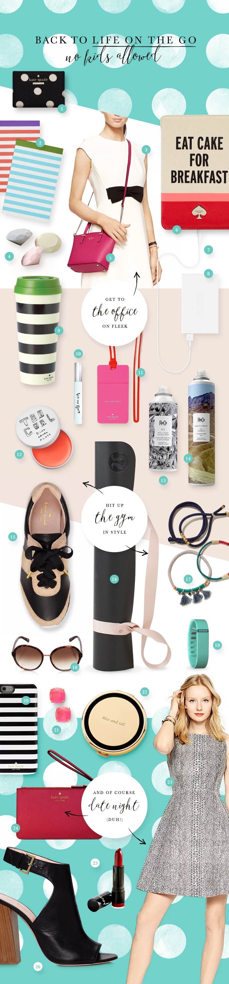 Kate Spade inspiration for back to school