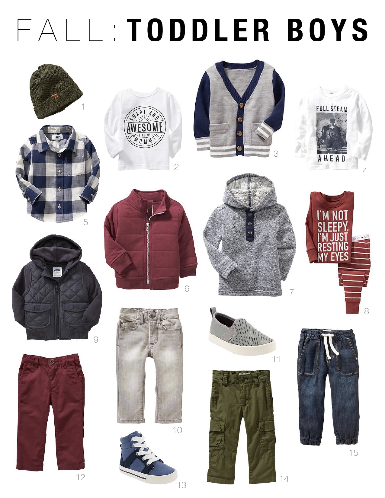 Toddler Boy Fall 2015