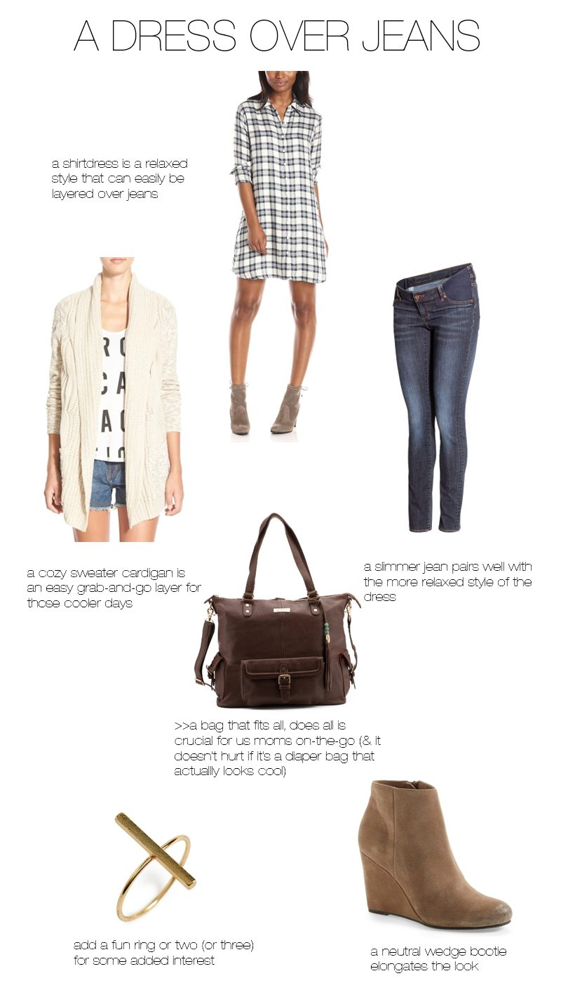 styling-a-dress-over-jeans
