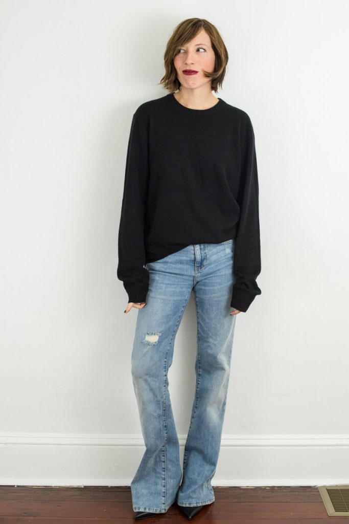 joe-fresh-black-cashmere-sweater