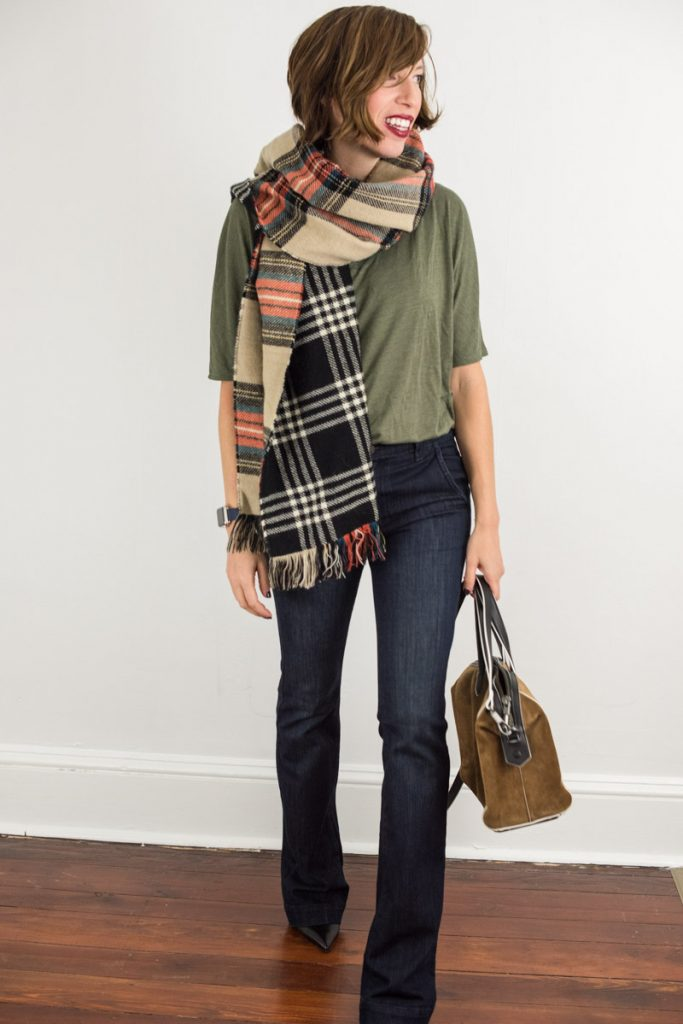oversized-plaid-scarf-camel-red-black