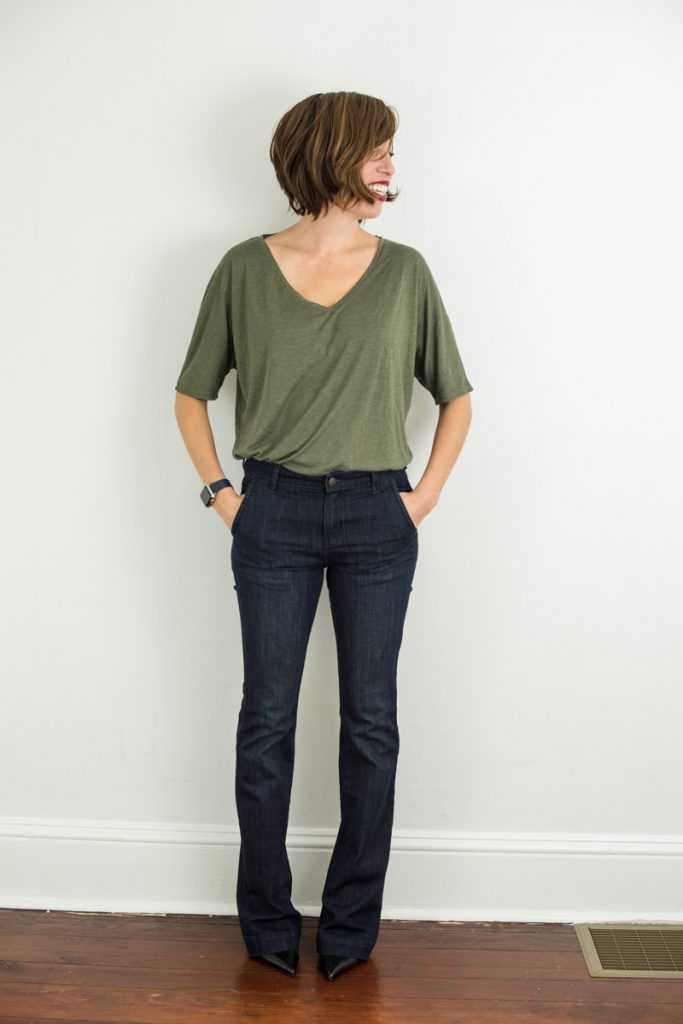 vneck-tee-army-green