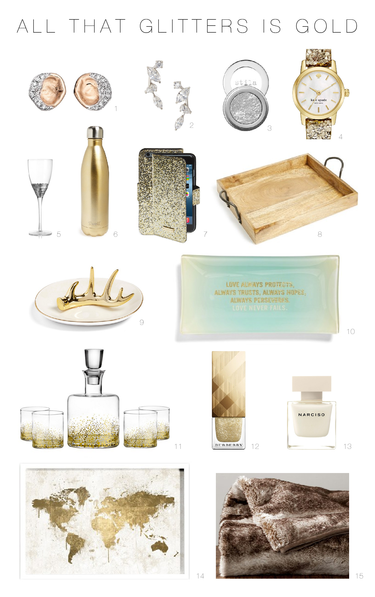 Gift Guide for Gold Lovers