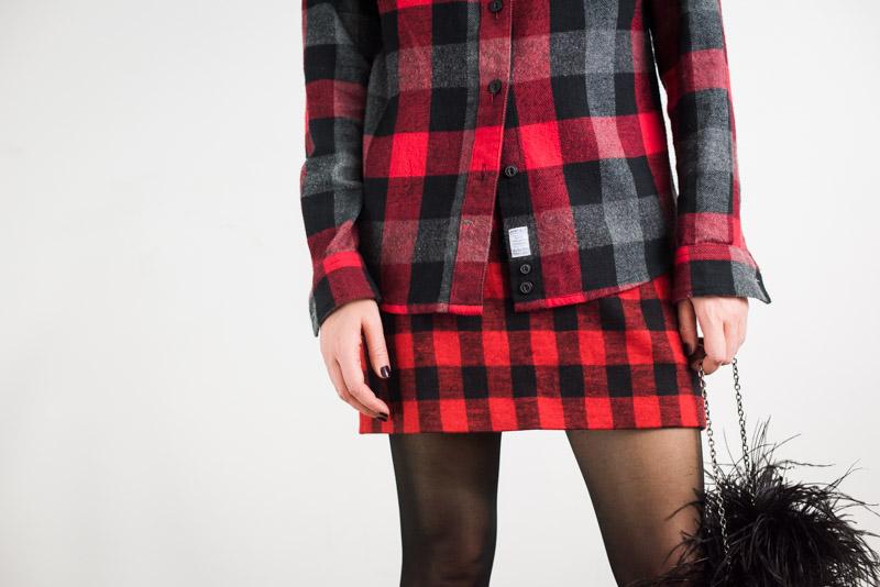 buffalo-plaid-shirt-and-skirt