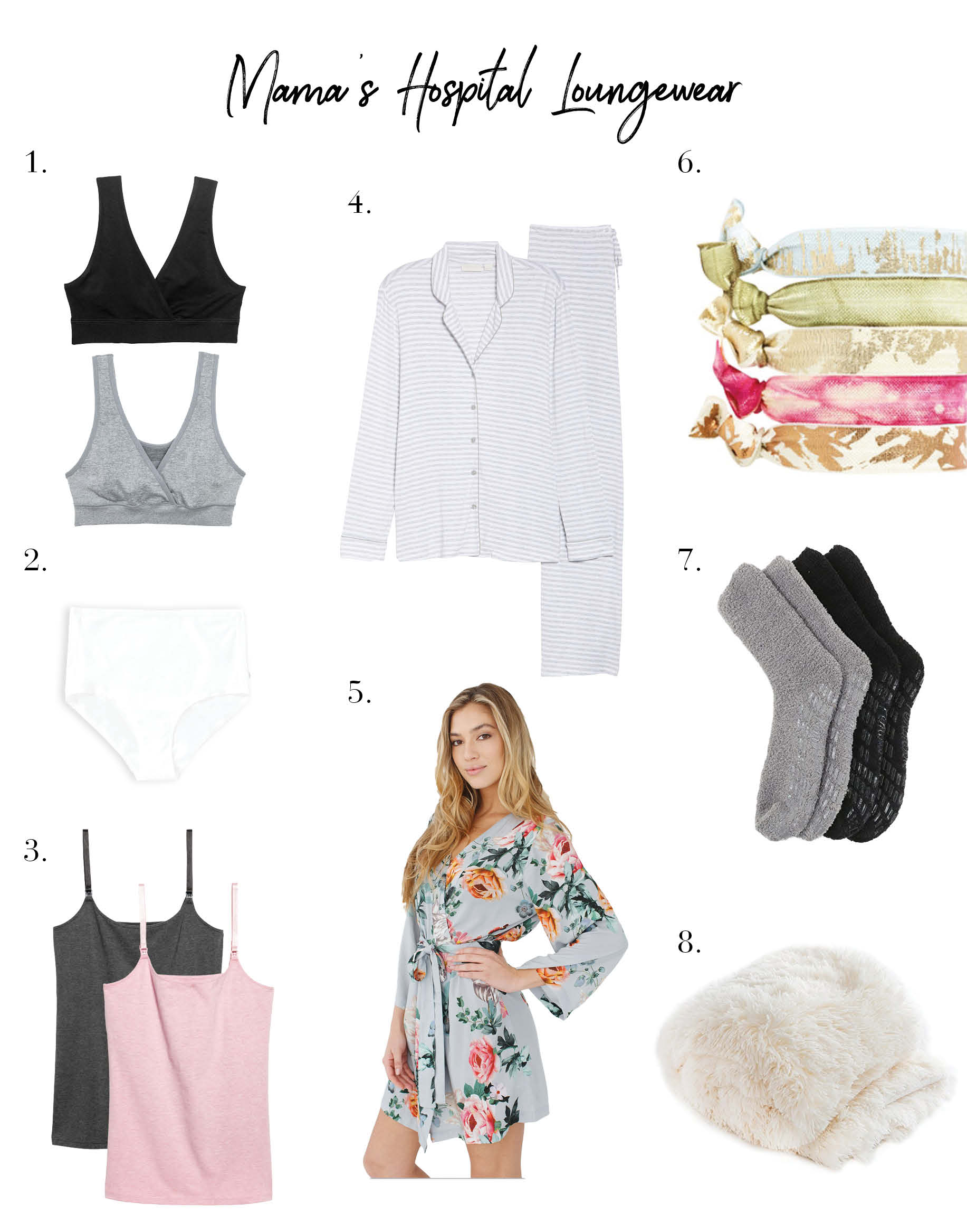 What to Pack + Wear for that Post-Baby Hospital Stay - The Mom Edit 9954008b24a79