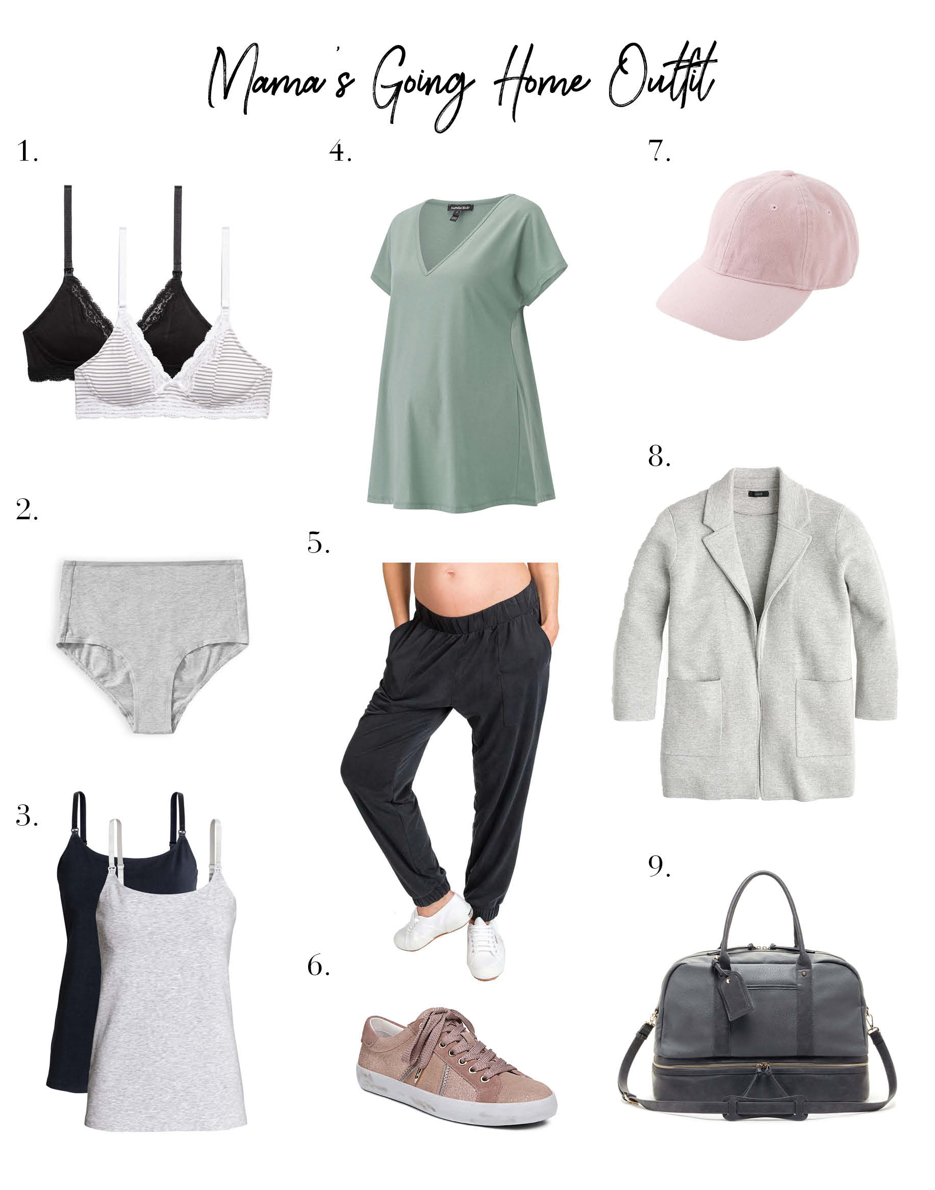 da6c957f412 What to Pack + Wear for that Post-Baby Hospital Stay - The Mom Edit
