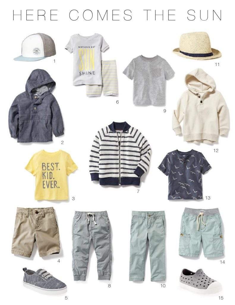 Toddler Boys Spring Wardrobe