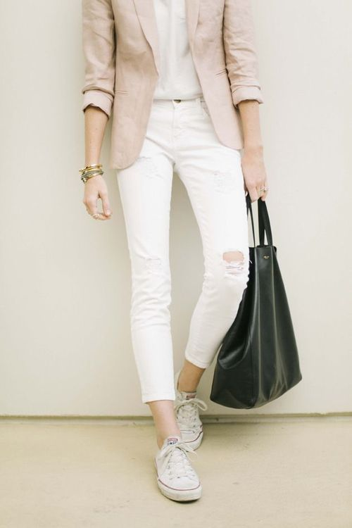 soft neutrals, soft pastels, white denim