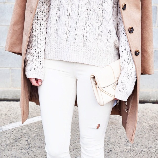 soft neutrals layered look
