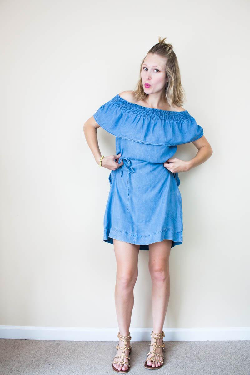 cute-off-the-shoulder-dress