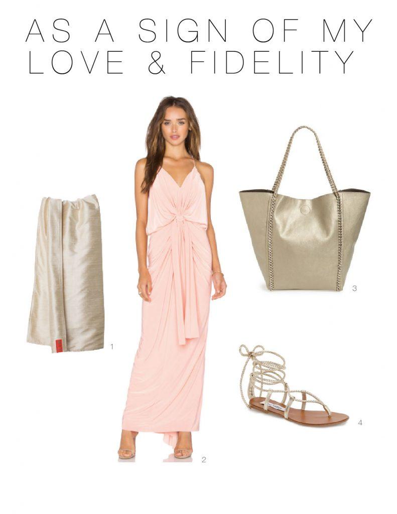 Outfit formula for breastfeeding mamas seeking nursing-friendly wedding guest attire? BeautifulDress + Pretty Sandals + Glam Baby Carrier + Fab Tote. DONE.