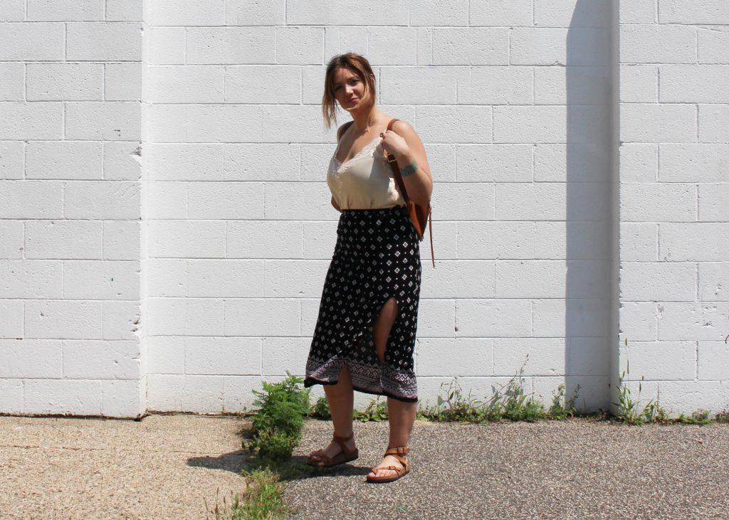 black midi skirt 1