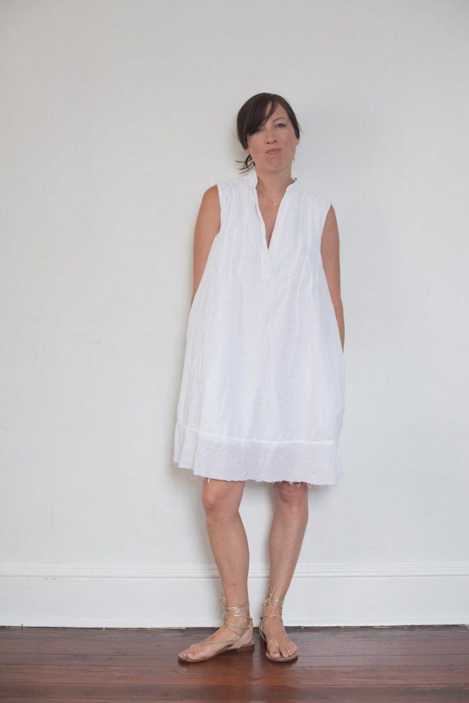 current-elliott-white-dress