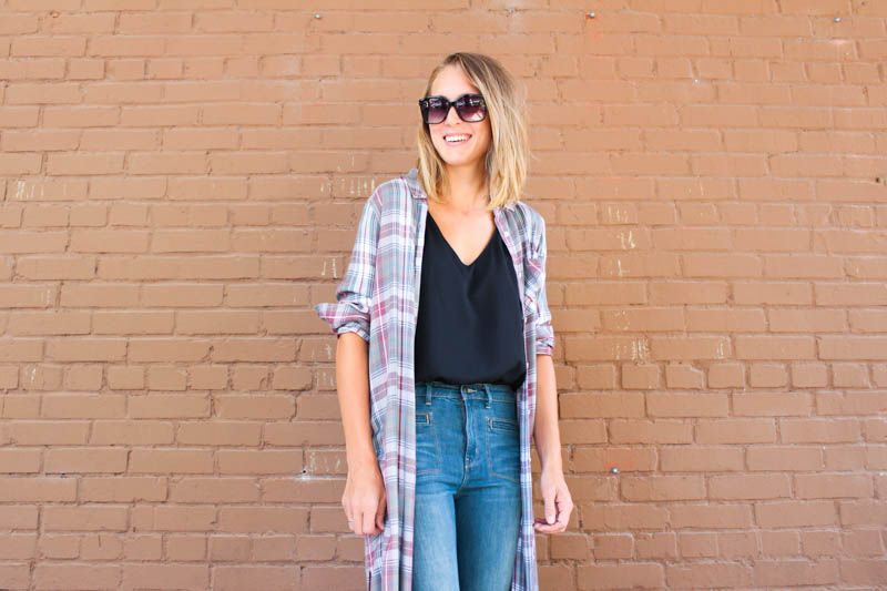 plaid-tunic-top