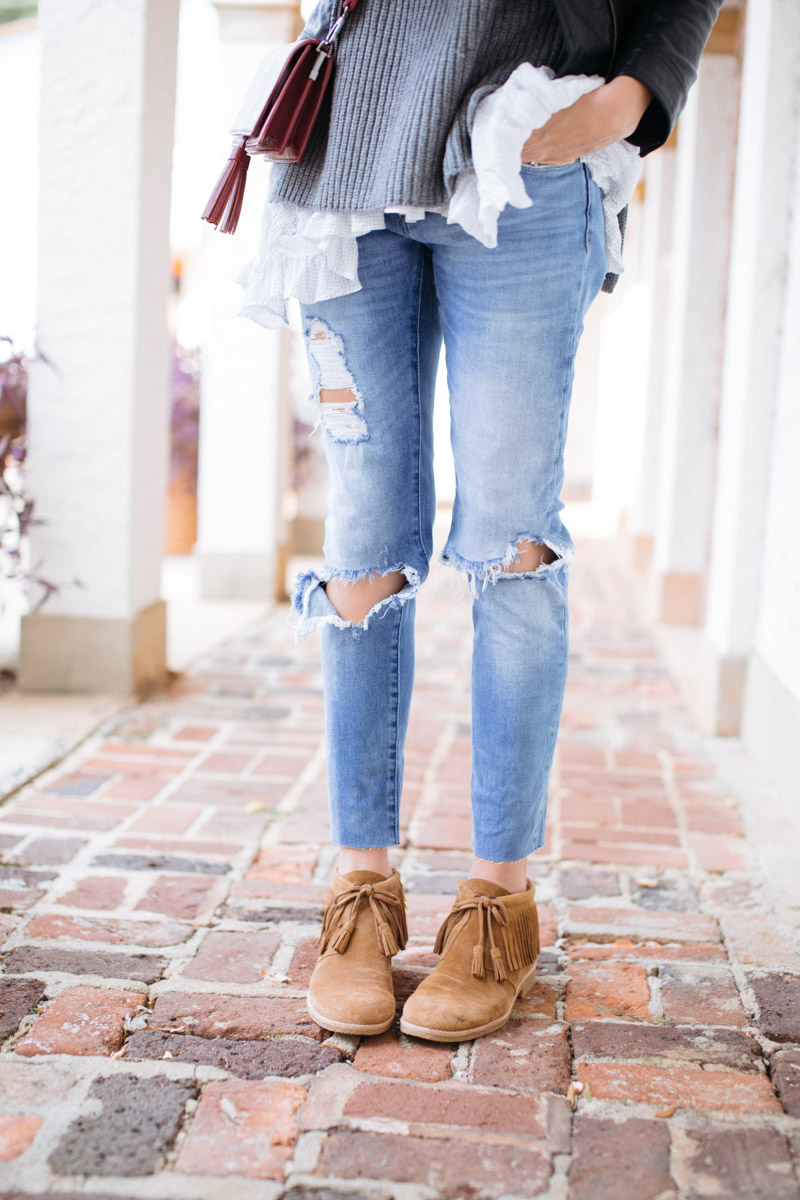 how-to-wear-fringe-booties