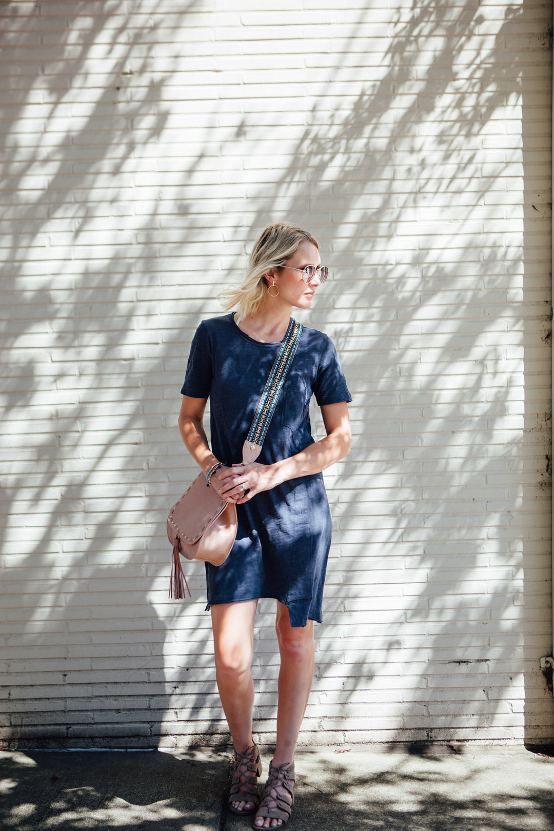 casual t-shirt dress for summer (1 of 1)