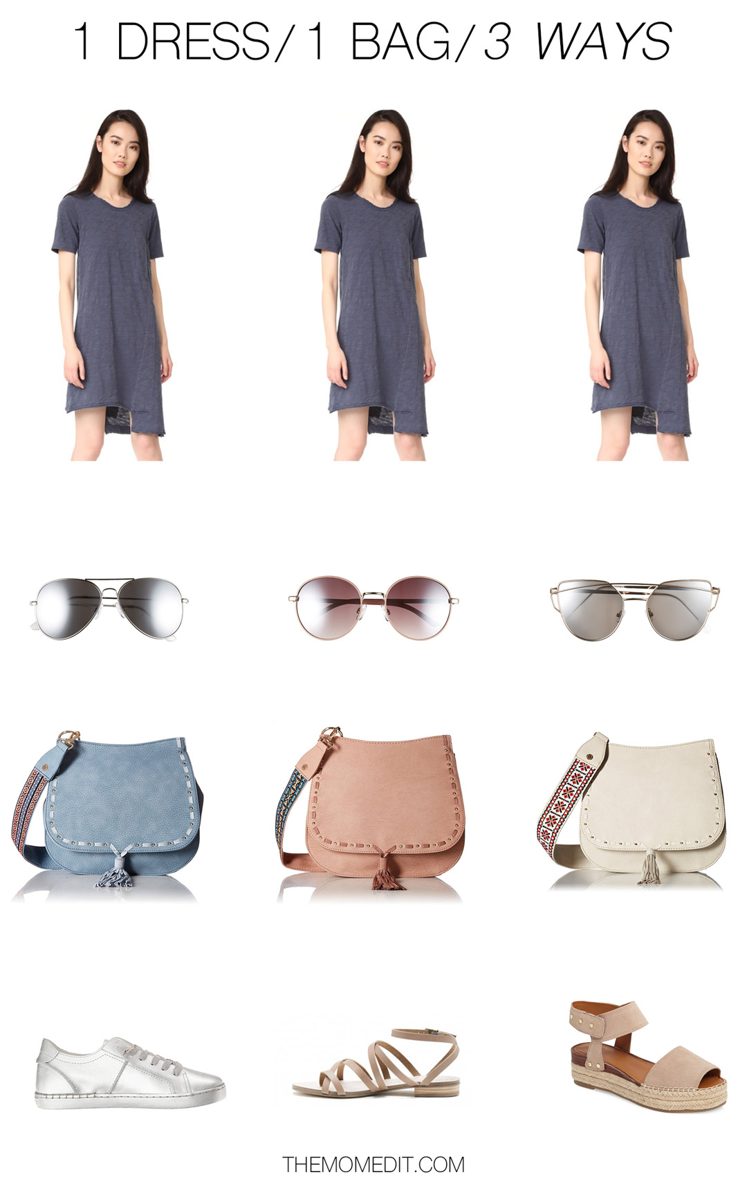 one dress one bag outfit formula