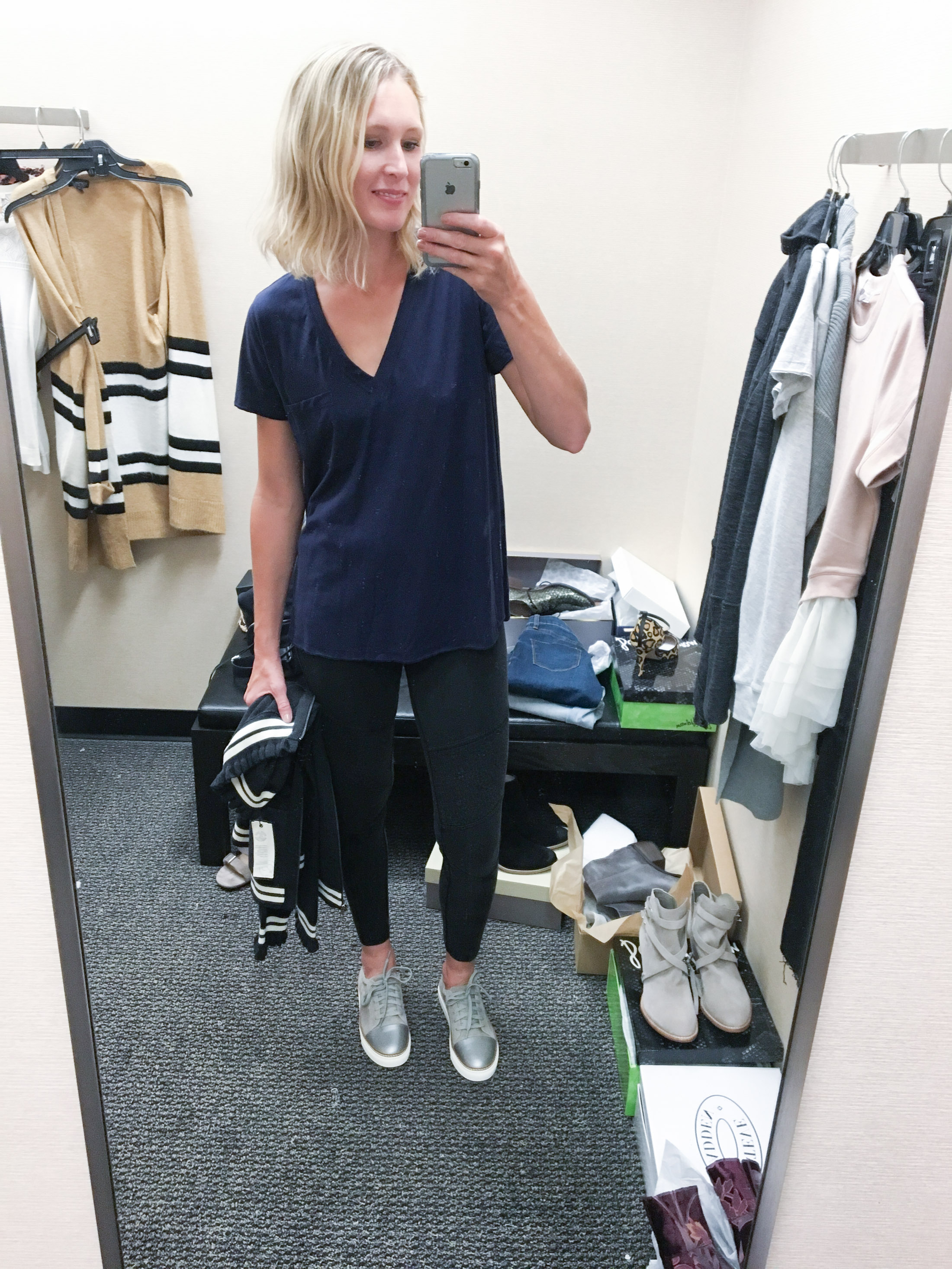 moto leggings with tee and sneakers (1 of 1)