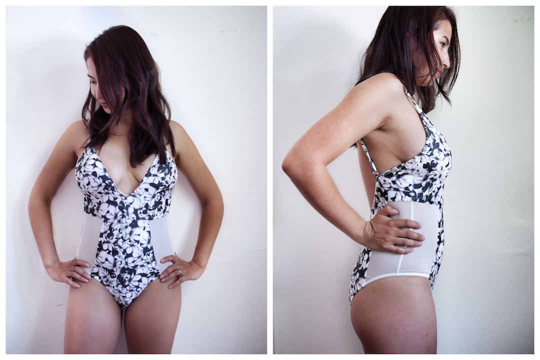 ee0bc36803 Lira Floral   Mesh Panel Plunge Swimsuit (size S) This is a gorgeous suit.  The print and the mesh do a great job at giving the illusion of a smaller  waist.