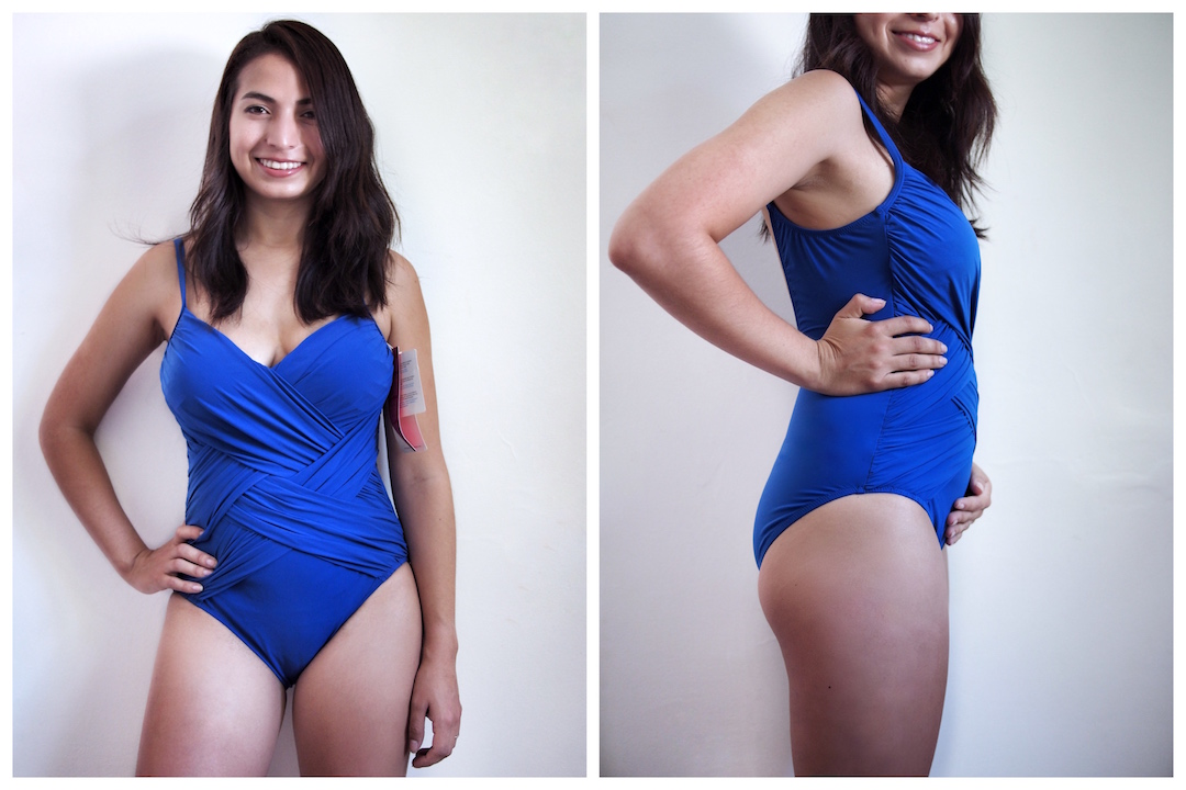 f7eea45363 Postpartum Swimwear: 10 Tips to Hide the Pooch | The Mom Edit