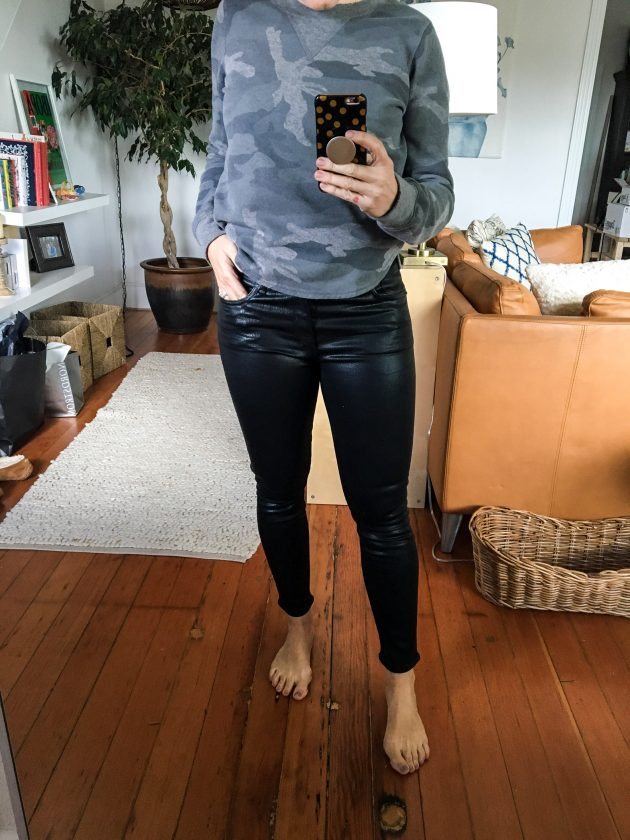 agolde leather jeans
