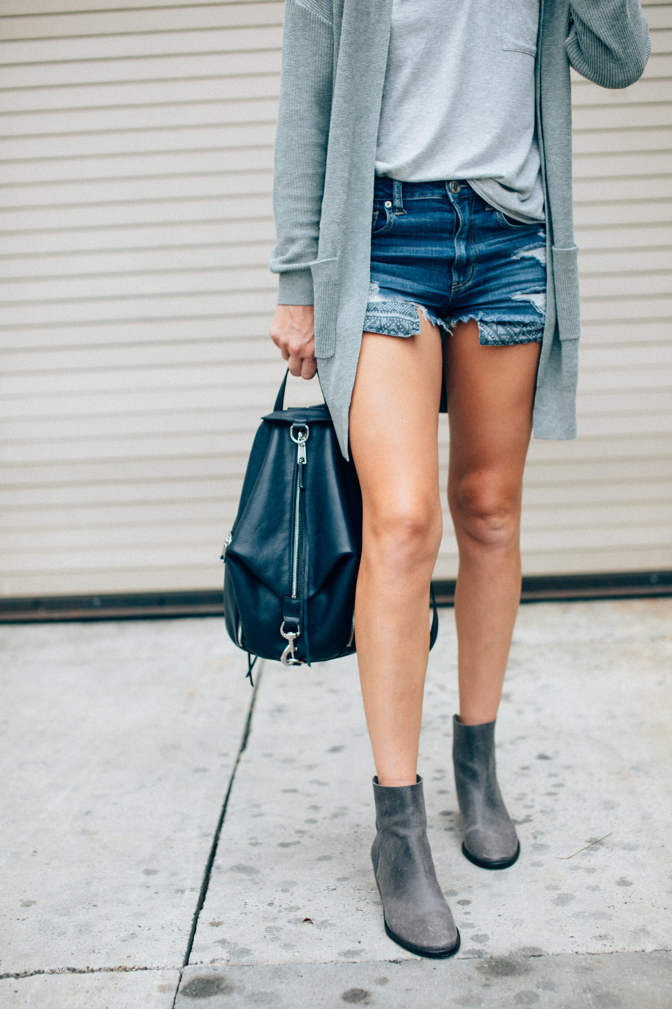 cut off shorts and booties