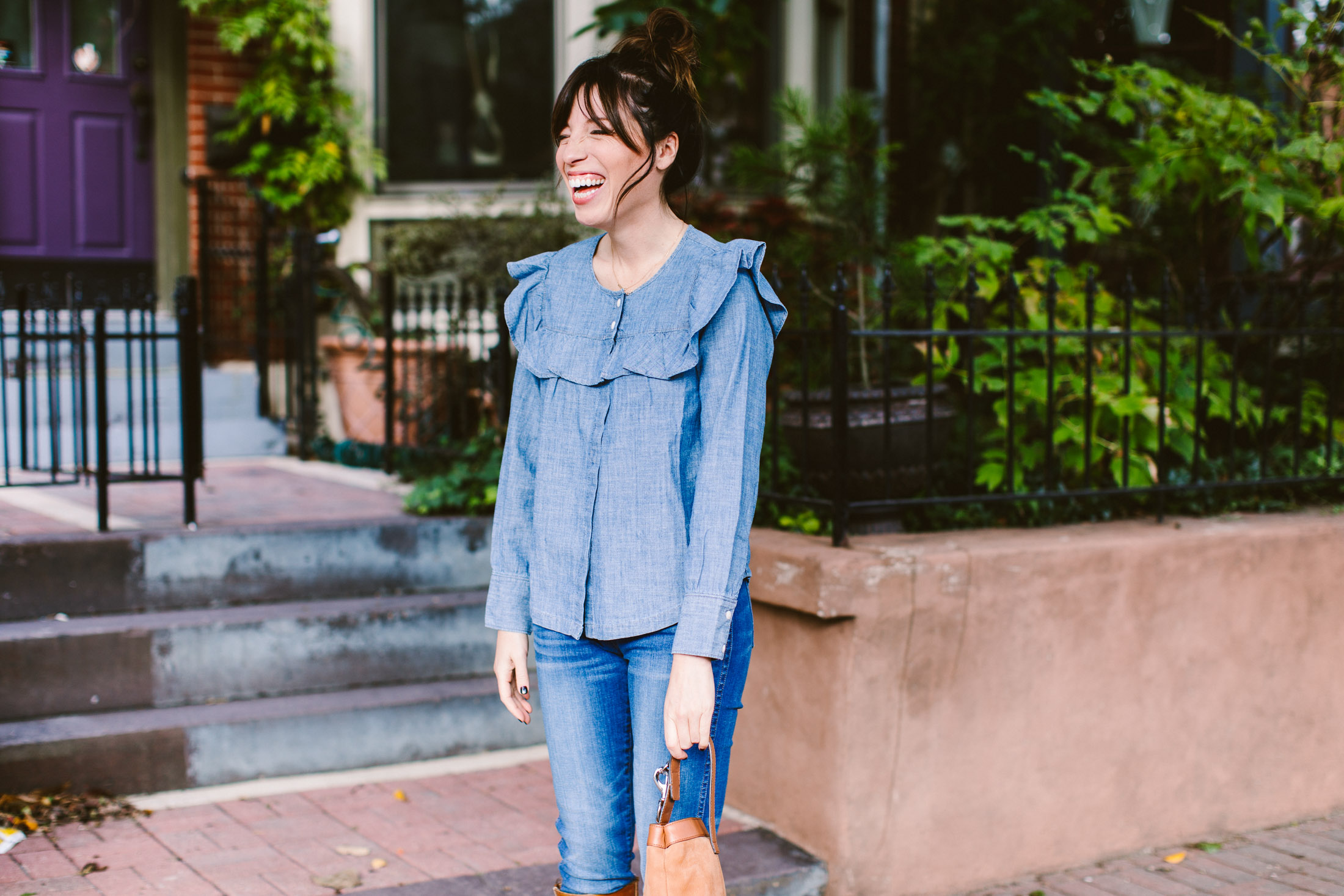 madewell denim top