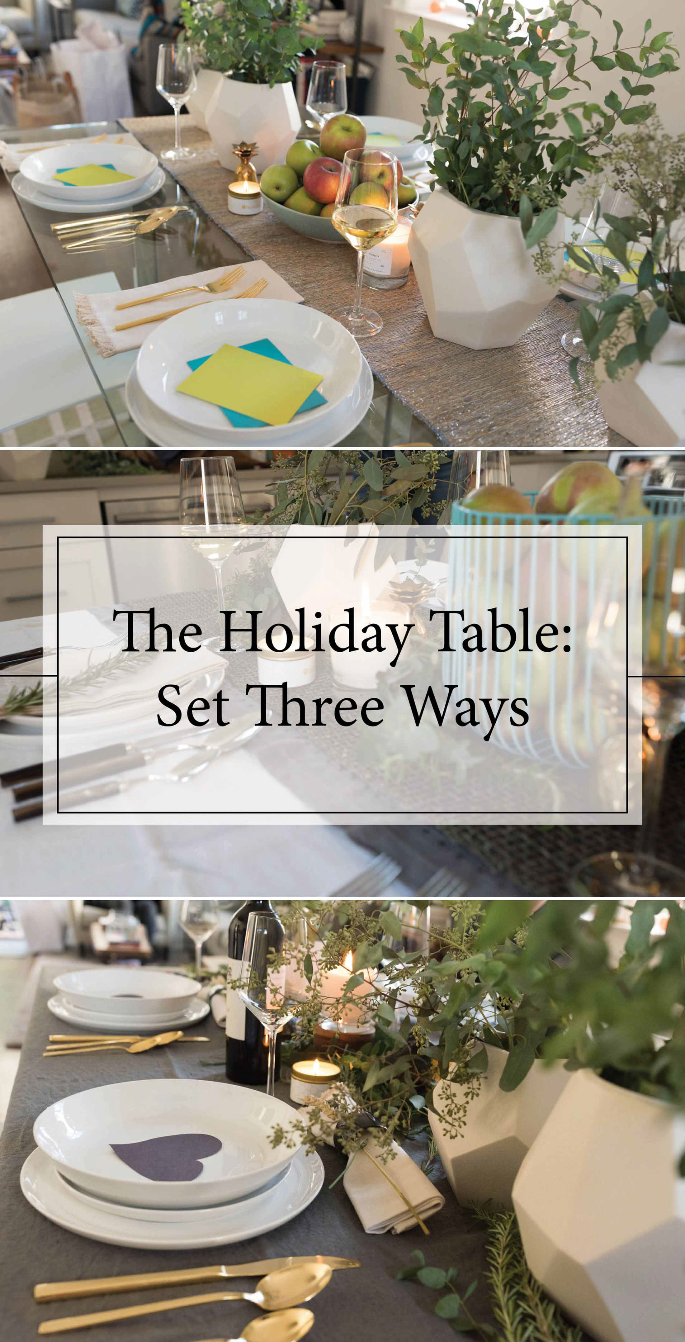 An easy, elegant, and modern way to set your holiday table. (This technique works for Thanksgiving, Christmas, or any holiday — it's THAT gorgeous.)