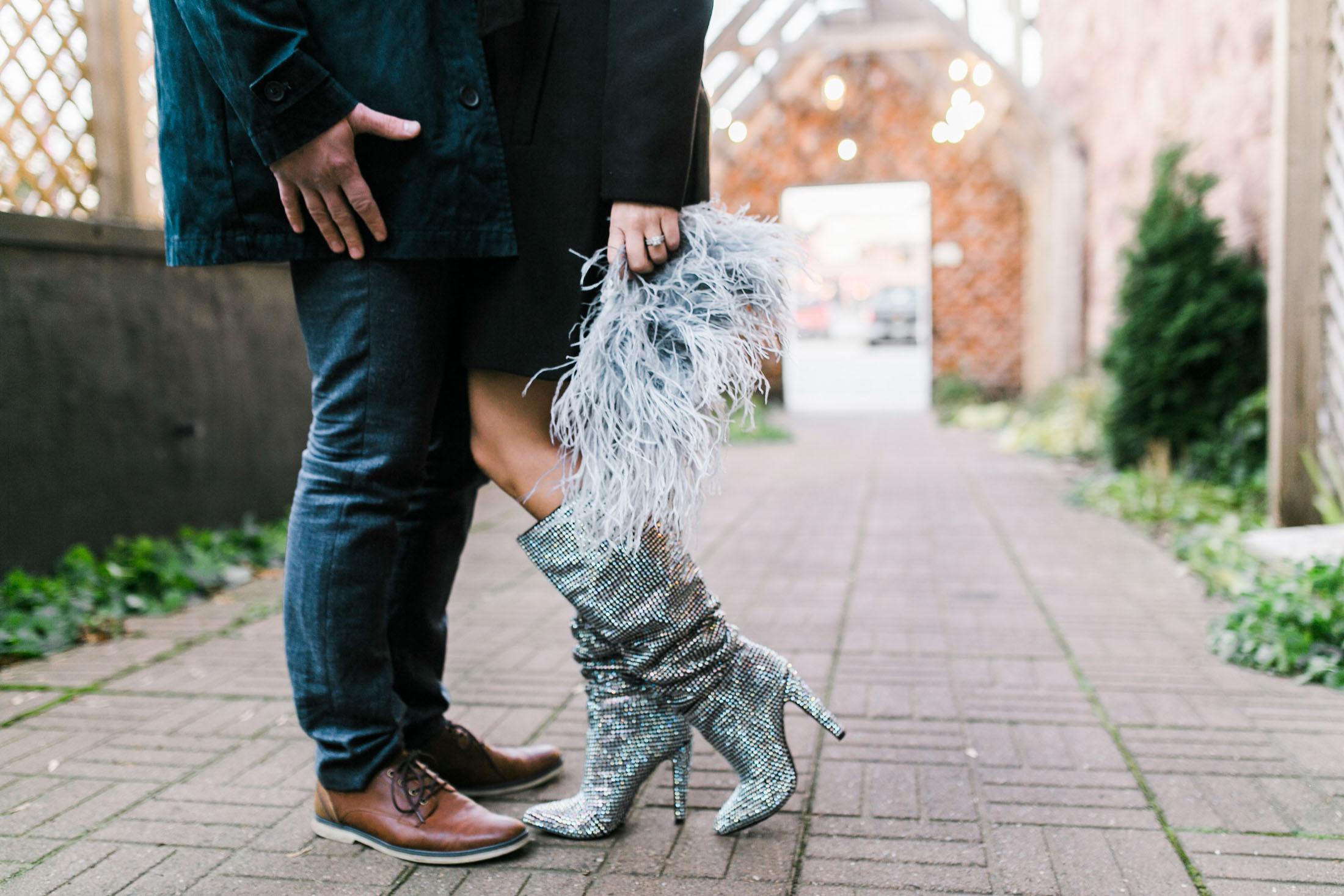women's boots with rhinestones
