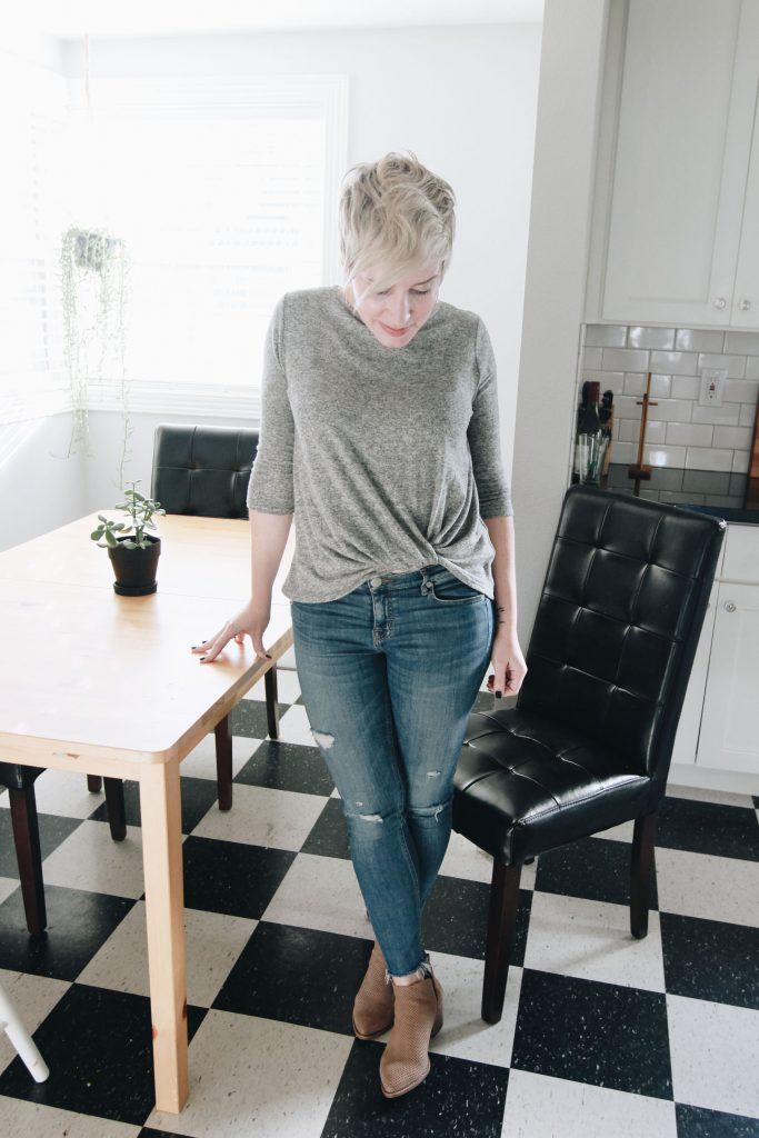 gray tops for women