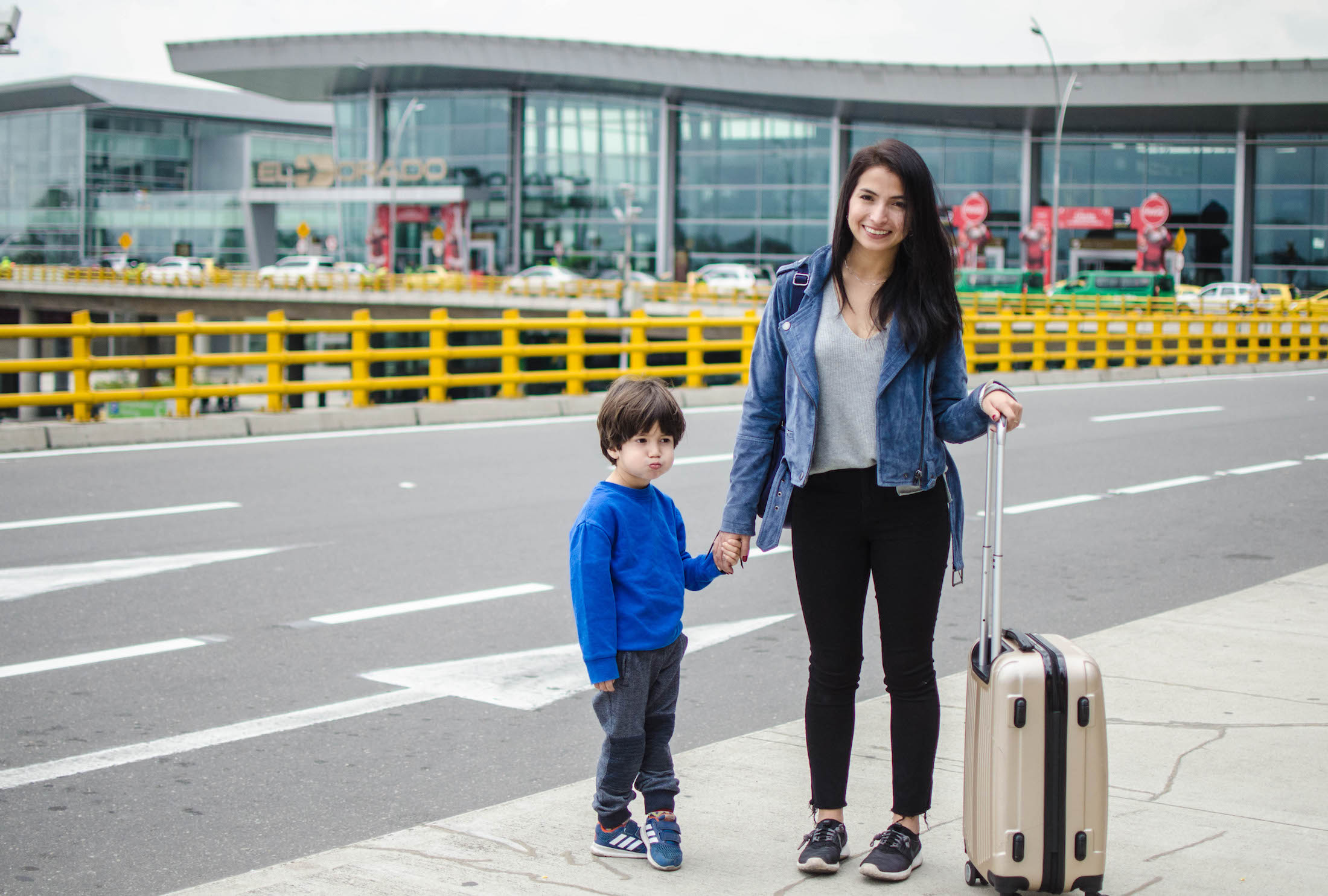 airport style with kids