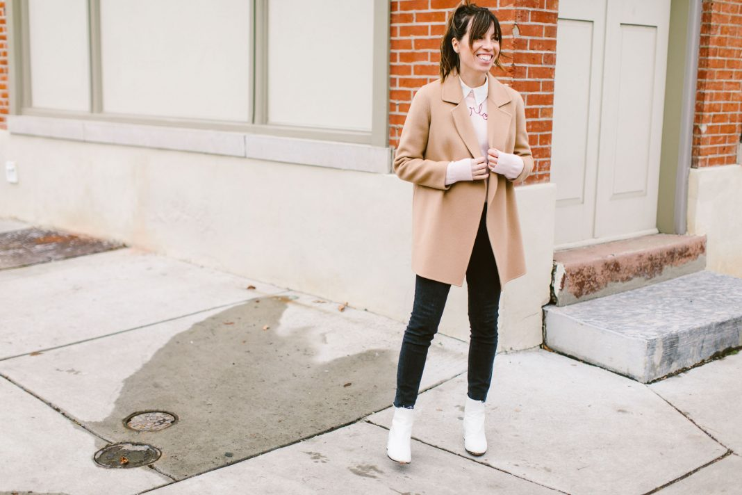 Wearing White Ankle Boots With Black
