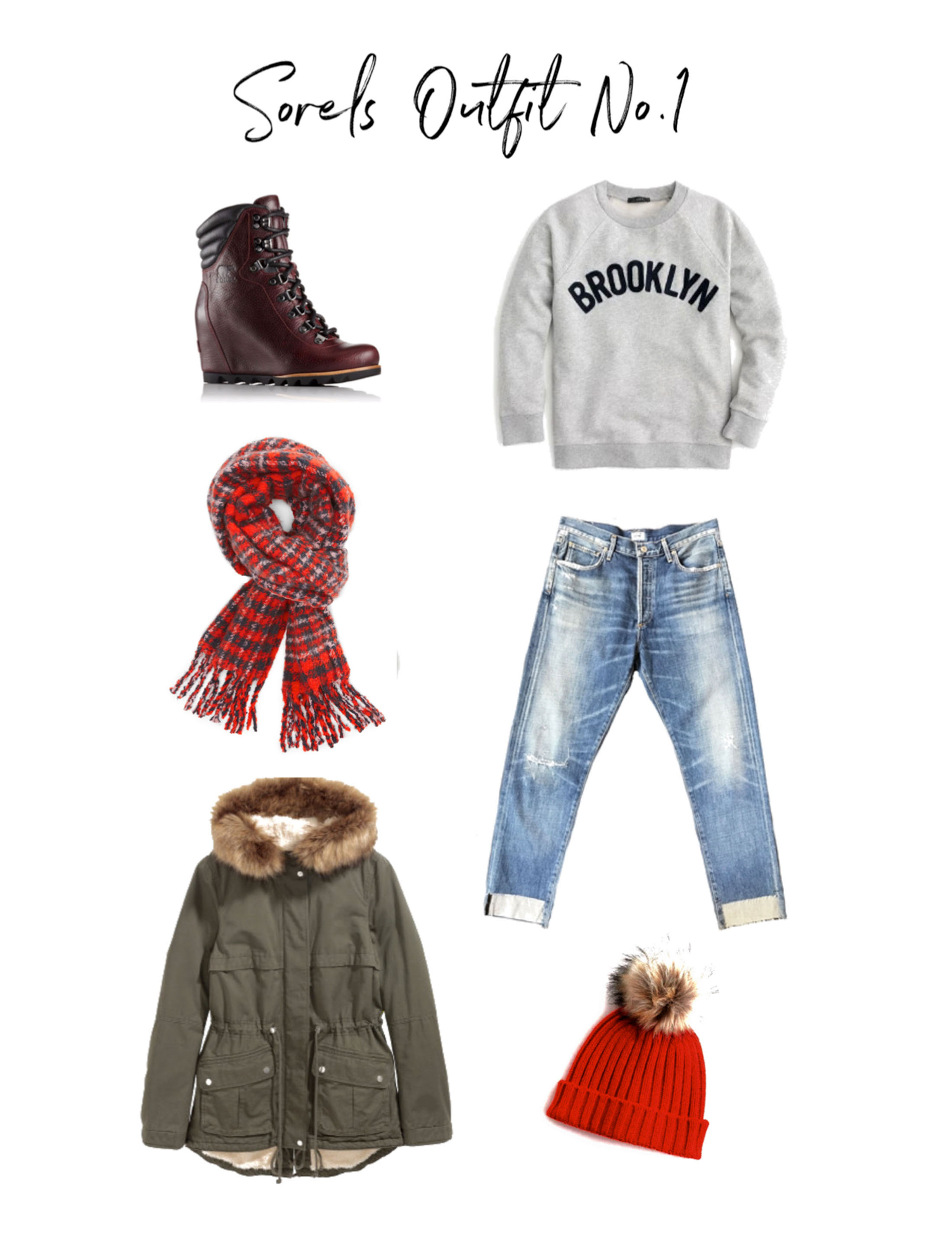 When the weather won't jive with your outfit — get out your snow boots! Our fave: wedged Sorels. Here are 4 cool ways to style from everyday to date night.